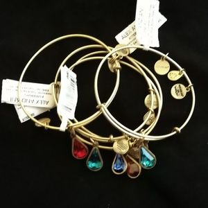 ALEX AND ANI LOT OF  TEARDROP SWARVOSKI BRACELETS